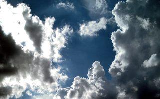 Wolkenformation - Wetter, Wolken, Sonne, blauer Himmel, Himmel, Wolke