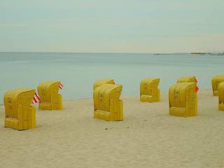 Strand - Ostsee, Meer, Timmendorfer Strand, Strandkörbe, Urlaub, Freizeit