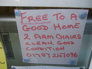 Free to a good home 2 armchairs ... - Anzeige, advert, armchair, furniture