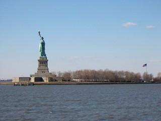 New York - Freiheitsstatue 2 - Amerika, USA, New York, Freiheitsstatue, Statue of Liberty, Wahrzeichen, Freiheit, Symbol, auswandern