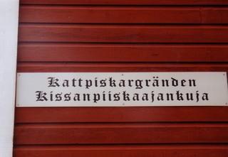 Finnisches Straßenschild - Sprache, Finnisch, Schwedisch, Straßenschild, Schild