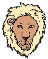 Löwe gemalt (bunt) - Löwe, Säugetier, Afrika, Illustration, Anlaut L