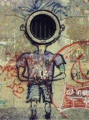 Graffiti Mensch mit