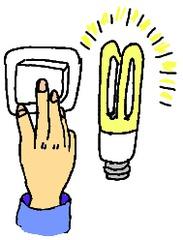 Lichtschalter und Energiesparbirne - Lichtdienst, Energie sparen, Energiesparbirne, Lichtschalter Ämterplan, Klassendienste