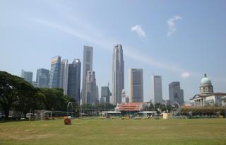 Singapore_Skyline - Geografie, Länder, Metropolen, Südostasien, Stadtstaaten, Singapore, Singapur, Kolonialviertel