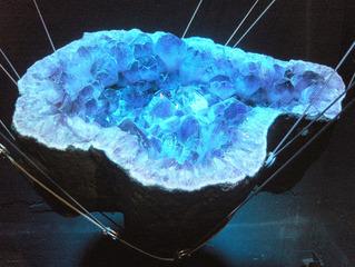 Amethyst - Amethyst, Mineral, Schmuckstein, Kristalle, Glanz, Tranzparenz, blau, violett, innen, Stein