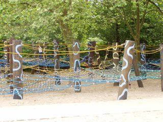 Kletterpark - klettern, Spielplatz, Seil, Seile, Netz, Netze, Freizeit, spielen