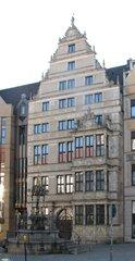 Hannover Leibnizhaus #1 - Hannover, Leibniz, Renaissance, Giebel, Fassade, historisch, Restauration, Restaurierung