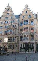 Hannover Leibnizhaus #2 - Hannover, Leibniz, Renaissance, Giebel, Fassade, historisch, Restauration, Restaurierung