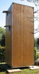 Modell eines Wohncontainers #3 - Wohncontainer, Unterkunft, Not, Holz, Kubus, Fenster