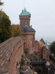 Hochkönigsburg - Burg, Burganlage, Mittealalter, Staufer, Elsass, Frankreich, Architektur, Sandstein
