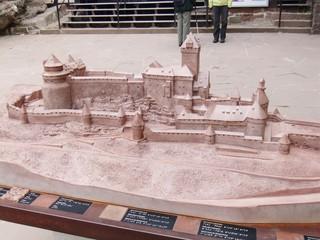 Hochkönigsburg - Modell - Modell, Burg, Mittelalter, Architektur, Frankreich, Elsass, Staufer