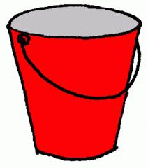 Eimer_ rot - Eimer, rot, Illustration, Farbe, Kübel, Putzeimer, Behälter, Wassereimer, Anlaut Ei, Kübel