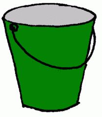 Eimer_grün - Eimer, grün, Illustration, Farbe, Kübel, Putzeimer, Behälter, Wassereimer, Anlaut Ei, Kübel