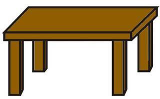 Tisch - Tisch, Küchentisch, Anlaut T, Möbel, Wörter mit sch
