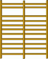 Sprossenwand#3 - Sprossenwand, Sport, Sportgerät, parallel, normal, rechter Winkel