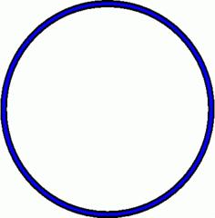 Reifen - Reifen, blau, Sportgerät, Sport, Sportgymnastik, turnen, rollen, Kreis, Umfang, Fläche, Radius, Durchmesser, Mathematik