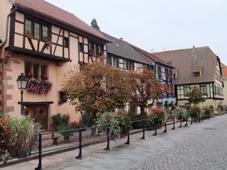 Fachwerkhäuser - Häuser, Fachwerk, Architektur, Elsass, Frankreich, Fachwerkhaus