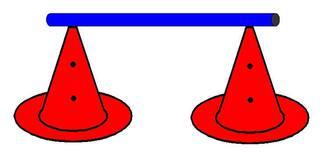 Pylonhürde_hoch#2 - Pylon, Markierungskegel, Hütchen, Kegel, Sport, Sportgerät, Spielabgrenzung, Markierung, markieren, Hürde, hoch, Hindernis