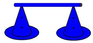 Pylonhürde_hoch#1 - Pylon, Markierungskegel, Hütchen, Kegel, Sport, Sportgerät, Spielabgrenzung, Markierung, markieren, Hürde, hoch, Hindernis