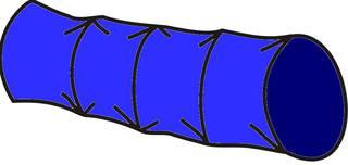 Kriechtunnel#1 - Kriechtunnel, blau, Sport, Sportgerät, Hindernis, kriechen, turnen