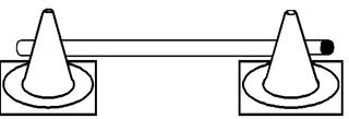 Pylonhürde_tief#0 - Pylon, Markierungskegel, Hütchen, Kegel, Sport, Sportgerät, Spielabgrenzung, Markierung, markieren, Hürde, tief, Hindernis