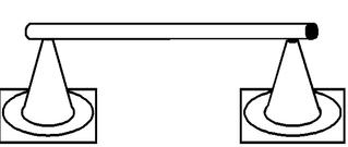 Pylonhürde_hoch#0 - Pylon, Markierungskegel, Hütchen, Kegel, Sport, Sportgerät, Spielabgrenzung, Markierung, markieren, Hürde, hoch, Hindernis