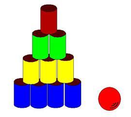 Dosenwerfen#1 - Dosen, werfen, zehn, Sport, Sportgeräte, spielen, Spiel, rund, Zylinder, Volumen, Oberfläche, Körper, Mathematik