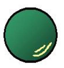 Gymnastikball grün - Gymnastikball, grün, Sport, werfen, spielen, rollen, Sportgerät, rund, Ball, Gymnastik, Kugel, Volumen, Körper, Mathematik