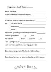 Musik-Fragebogen