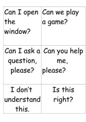 Classroom-phrases; flashcards