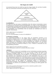 4teachers - Organe der GmbH - Arbeitsblatt