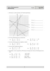 Wiederholung zu den Linearen Gleichungssystemen