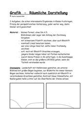 Grafik - räumliche Darstellung, 2 einfache Aufgaben