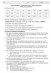 Quadratzahlen - Quadratwurzeln-zehnerpotenzen