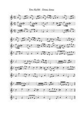 Dos kelbl - Dona dona - dreistimmig für Blockflöten
