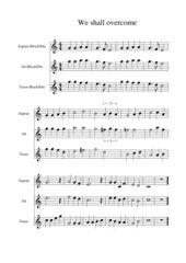 We shall overcome - Satz für drei Blockflöten