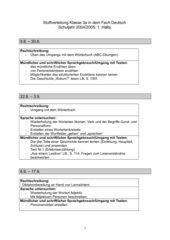 Stoffverteilung/Deutsch 3.Klasse