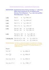 Die Quadratische Ergänzung