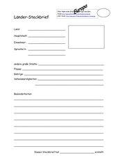 Steckbrief kennenlernen vorlage Wanted - das Kennenlernspiel mit Steckbrief