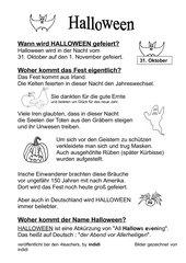 Halloween - Infotext