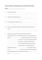 2. Schulaufgabe 8. Klasse nichttechnischer Zweig
