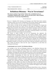 Klausur Sozialwissenschaften GK 13 - Internationale Politik - Terrorismus
