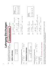 Grundlagen Gleichungen