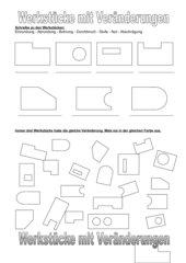 Technisch Zeichnen: Veränderungen an flachen Werkstücken -1