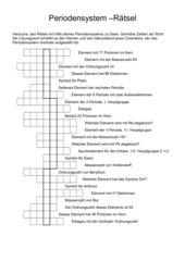 Periodensystem-Rätsel