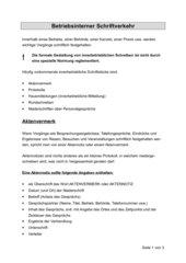 Betriebsinterner Schriftverkehr
