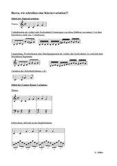 Anleitung zum Schreiben einer klassischen Klaviervariation