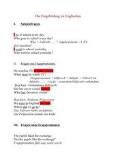 Fragebildung im Englischen