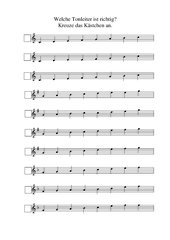Arbeitsblatt Tonleitern C, G, F